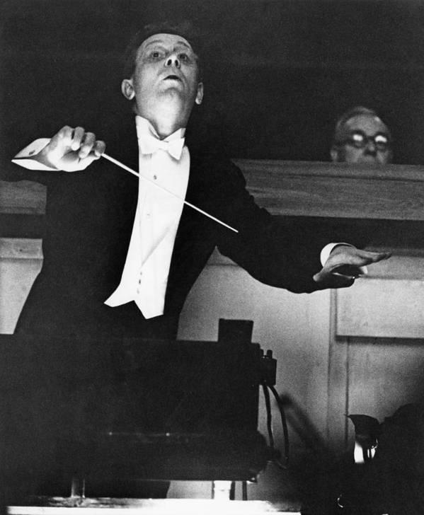 Musical Conductor Art Print featuring the photograph Mackerras Conducts Janacek by Erich Auerbach