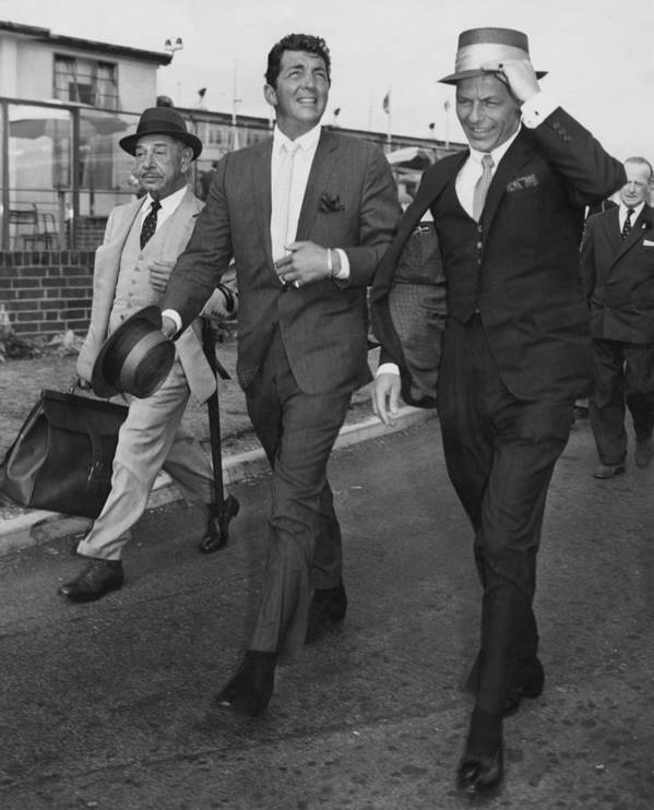 Singer Art Print featuring the photograph Martin And Sinatra by J. Wilds