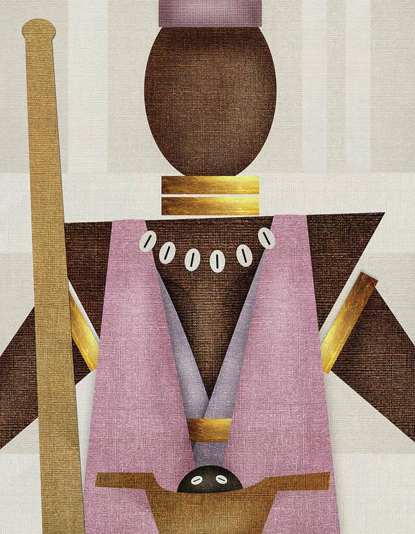 Orisha Art Print featuring the digital art Orisha Obba' by SOUENTOS - souvenirsycuentos - Viola Mari Ekong