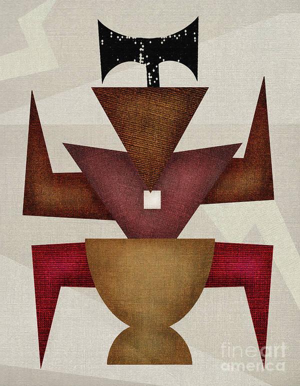 Orisshas Art Print featuring the digital art Orisha Shango by SOUENTOS - souvenirsycuentos - Viola Mari Ekong
