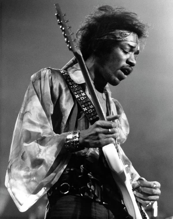 Music Art Print featuring the photograph Photo Of Jimi Hendrix And Jimi Hendrix by David Redfern