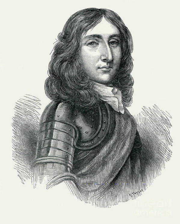 Richard Cromwell Art Print featuring the drawing Richard Cromwell by Unknown