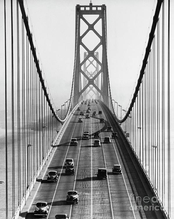 Civil Engineering Art Print featuring the photograph San Francisco-oakland Bay Bridge by Bettmann
