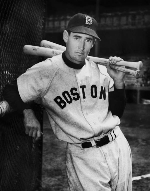 Ted Williams - Baseball Player Art Print featuring the photograph Ted Williams by Fpg