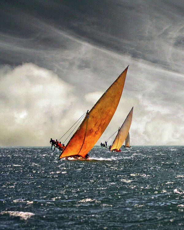 Kenya Art Print featuring the photograph The Art Of Swahili Dhow Racing by David Schweitzer