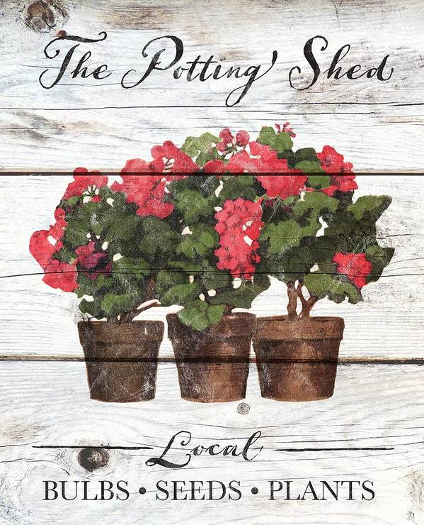 Art Art Print featuring the drawing The Potting Shed by K.r. Wireman
