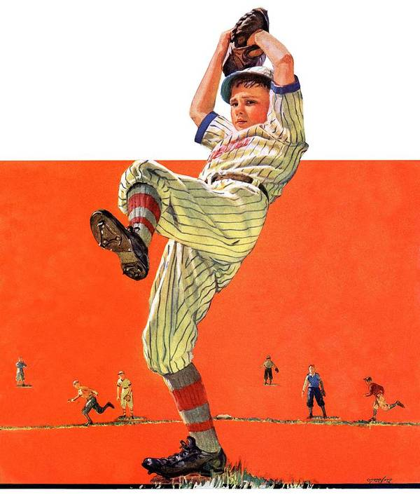 Baseball Art Print featuring the drawing The Windup by Eugene Iverd