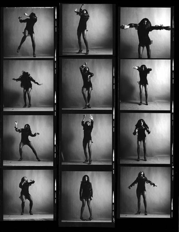 Singer Art Print featuring the photograph Tina Turner Contact Sheet by Jack Robinson