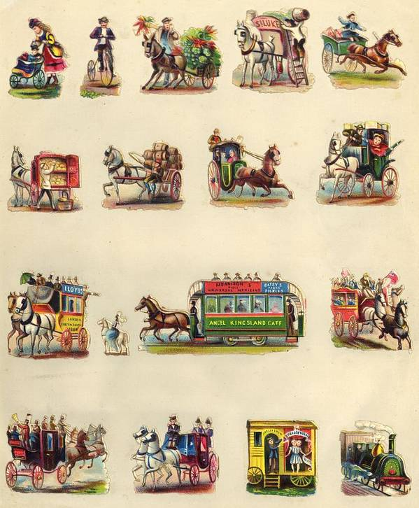 Horse Art Print featuring the photograph Victorian Travel by Hulton Archive