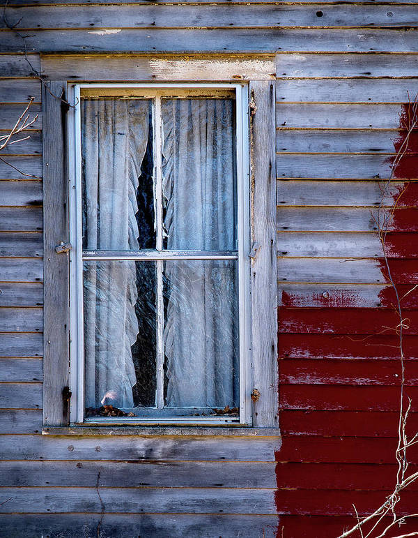 Rustic Art Print featuring the photograph Window in Marlboro by Tom Romeo