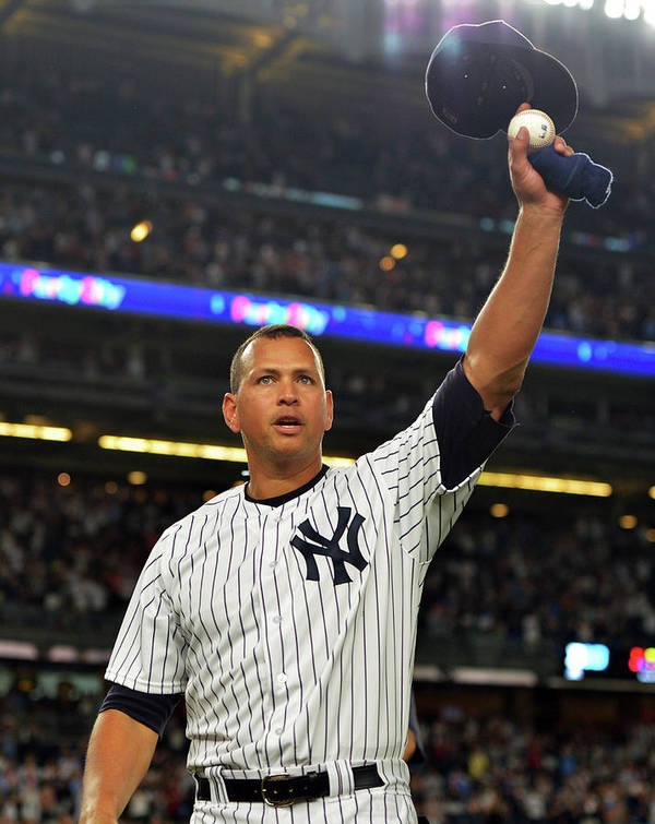 Crowd Art Print featuring the photograph Alex Rodriguez by Drew Hallowell
