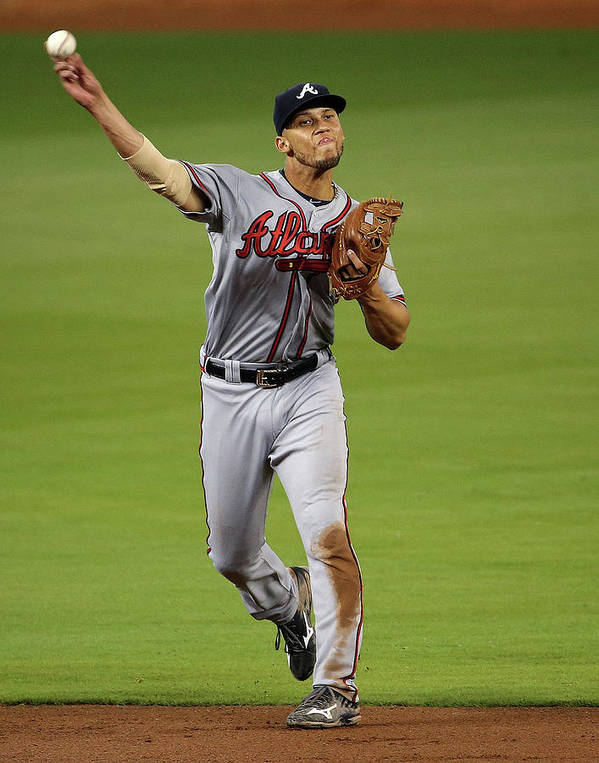 People Art Print featuring the photograph Andrelton Simmons by Mike Ehrmann