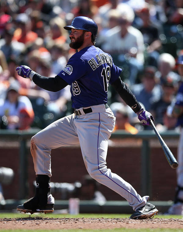 San Francisco Art Print featuring the photograph Charlie Blackmon by Brad Mangin
