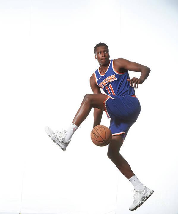 Nba Pro Basketball Art Print featuring the photograph Frank Ntilikina by Nathaniel S. Butler