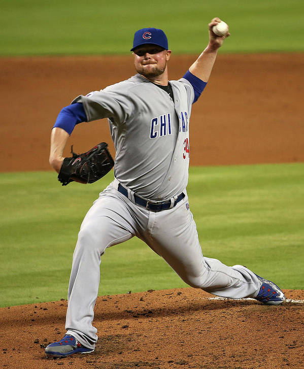People Art Print featuring the photograph Jon Lester by Mike Ehrmann