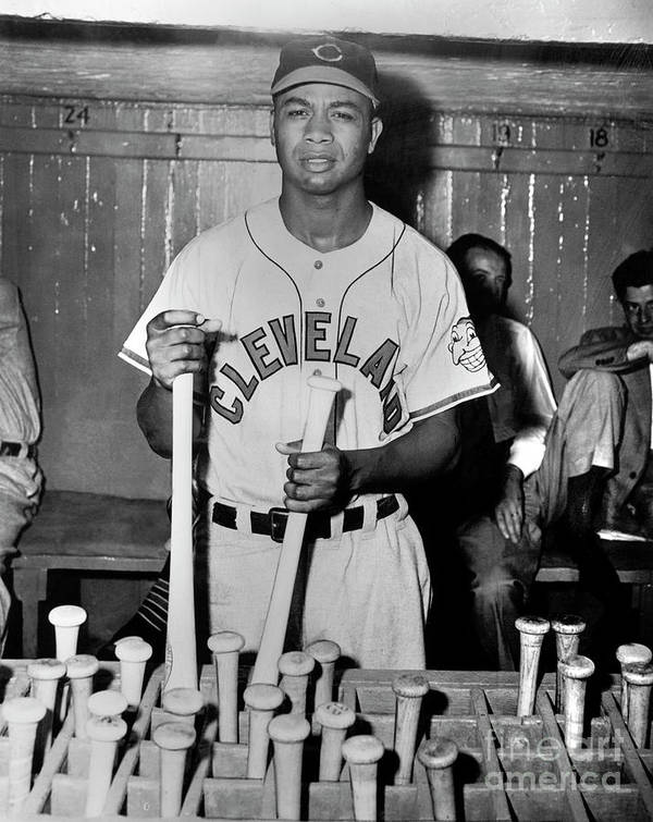 American League Baseball Art Print featuring the photograph Larry Doby by National Baseball Hall Of Fame Library
