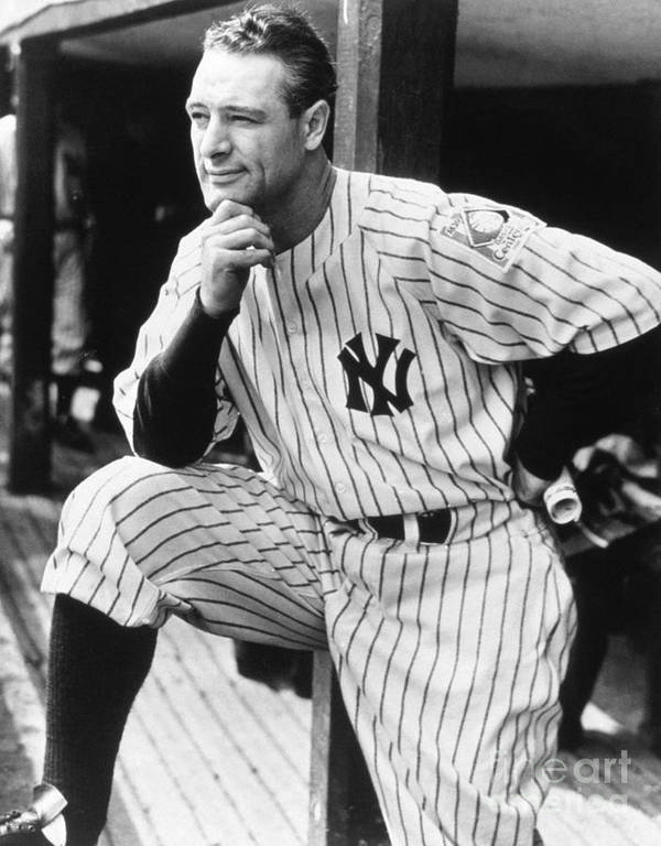 People Art Print featuring the photograph Lou Gehrig by National Baseball Hall Of Fame Library