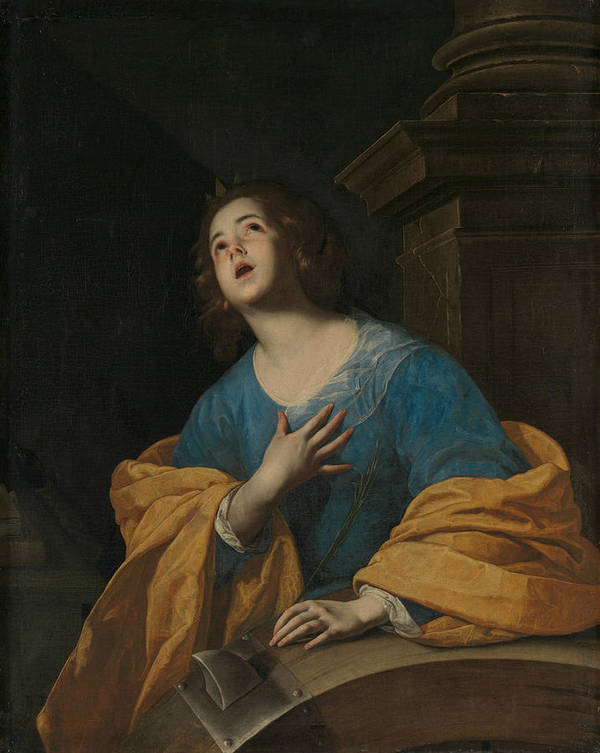 17th Century Painters Art Print featuring the painting Saint Catherine Of Alexandria by Workshop of Bernardo Cavallino