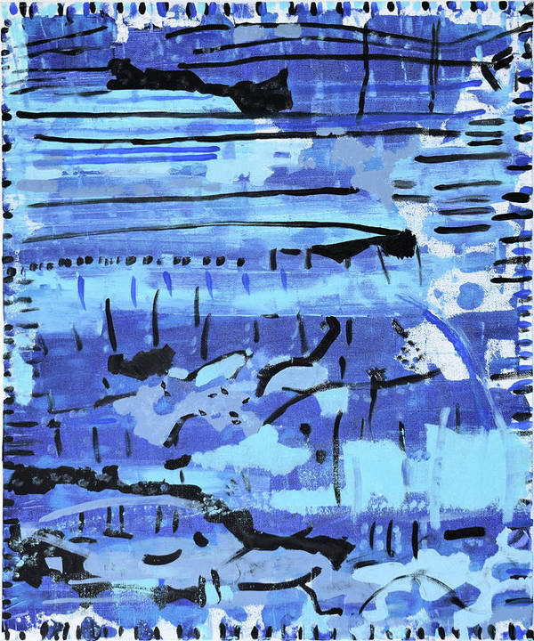 Colorado Art Print featuring the painting Something Blue by Pam Roth O'Mara