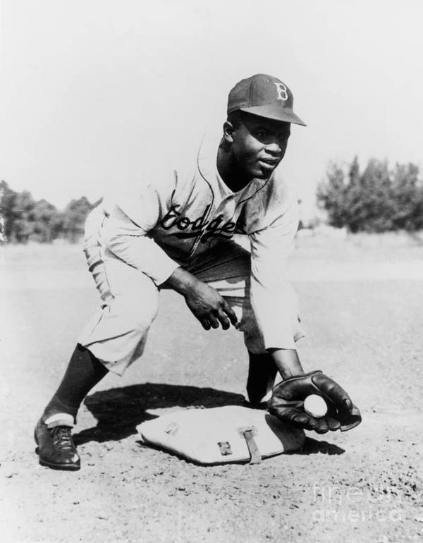 People Art Print featuring the photograph Jackie Robinson by National Baseball Hall Of Fame Library