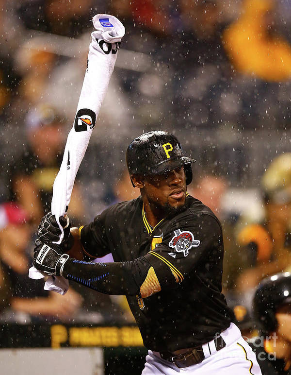 On-deck Circle Art Print featuring the photograph Starling Marte by Jared Wickerham