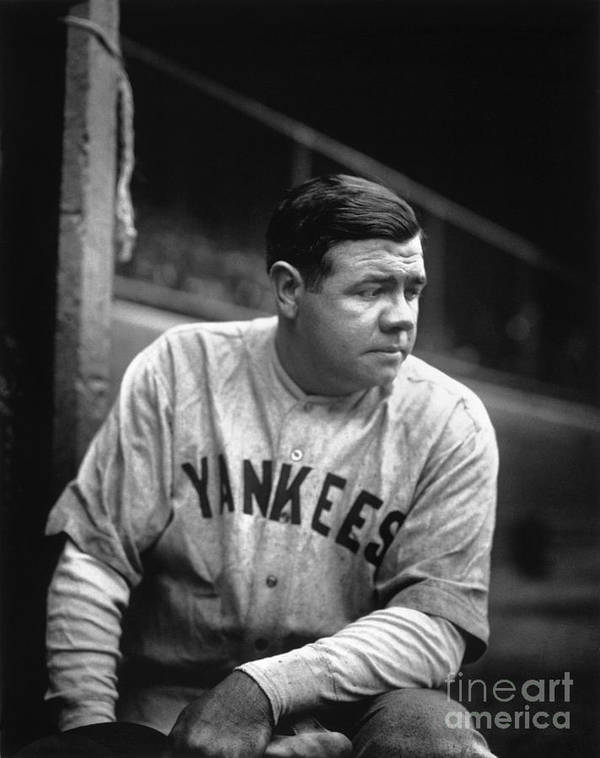 People Art Print featuring the photograph Babe Ruth by National Baseball Hall Of Fame Library