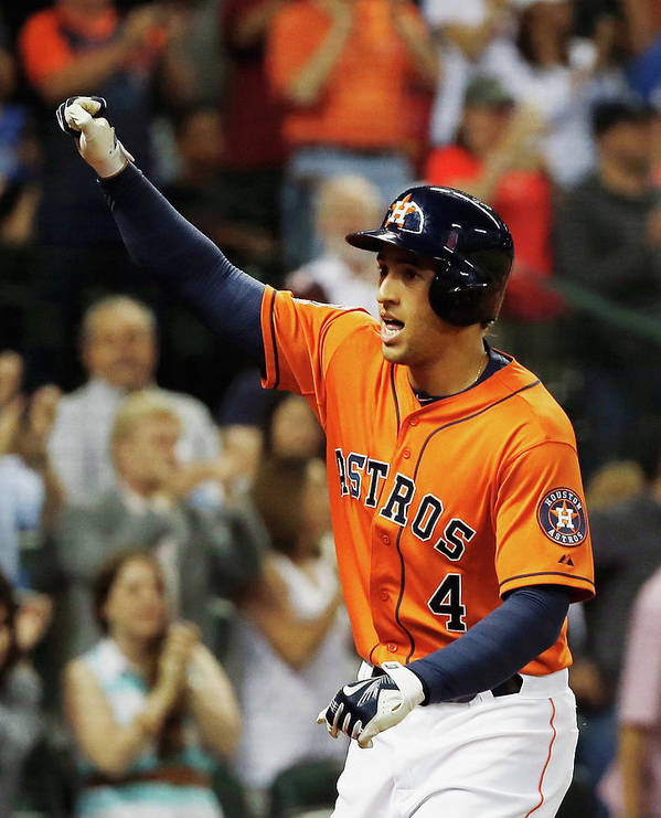 Three Quarter Length Art Print featuring the photograph George Springer by Scott Halleran