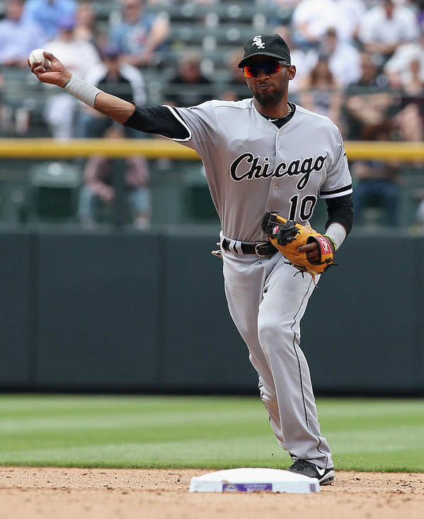 American League Baseball Art Print featuring the photograph Alexei Ramirez by Doug Pensinger