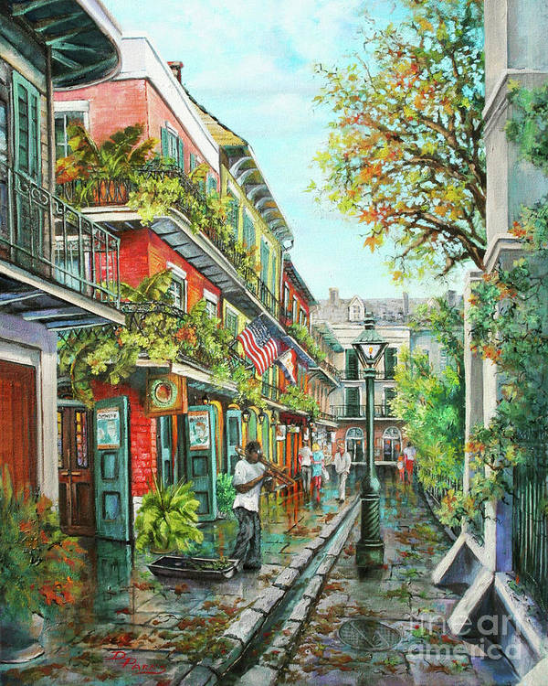 New Orleans Jazz Art Print featuring the painting Alley Jazz by Dianne Parks