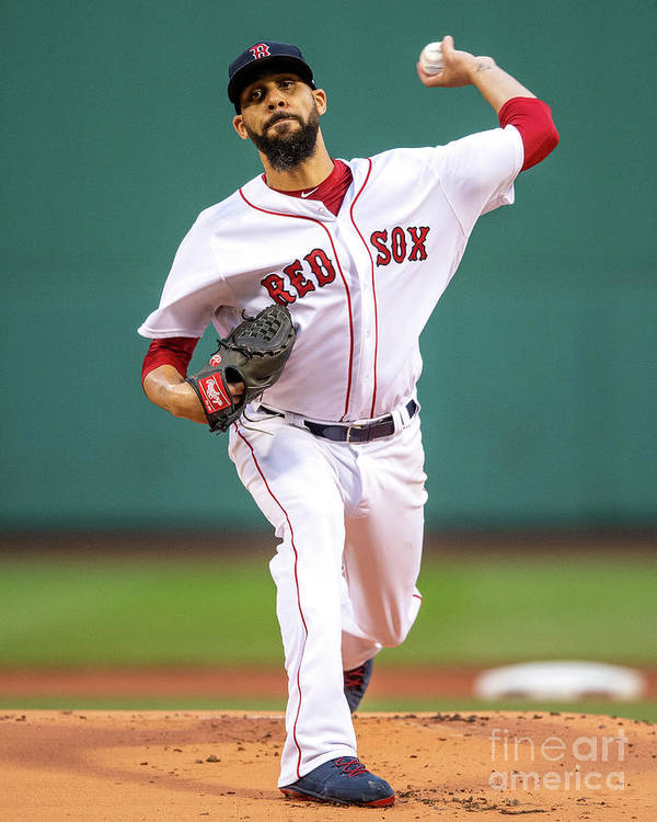 David Price Art Print featuring the photograph David Price by Billie Weiss/boston Red Sox