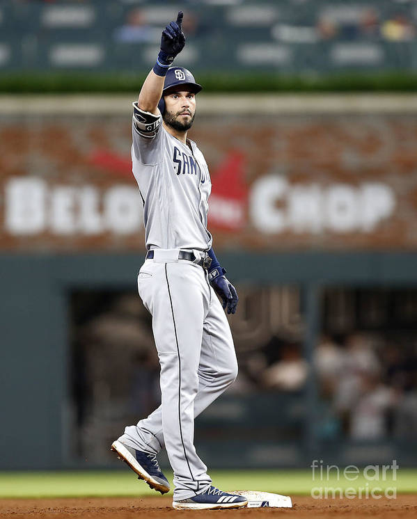 Atlanta Art Print featuring the photograph Eric Hosmer by Mike Zarrilli