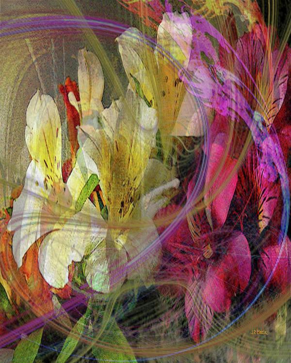 Floral Inspiration Art Print featuring the digital art Floral Inspiration by John Robert Beck