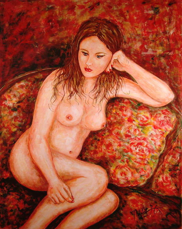 Nude Art Print featuring the painting Forever Young by Natalie Holland