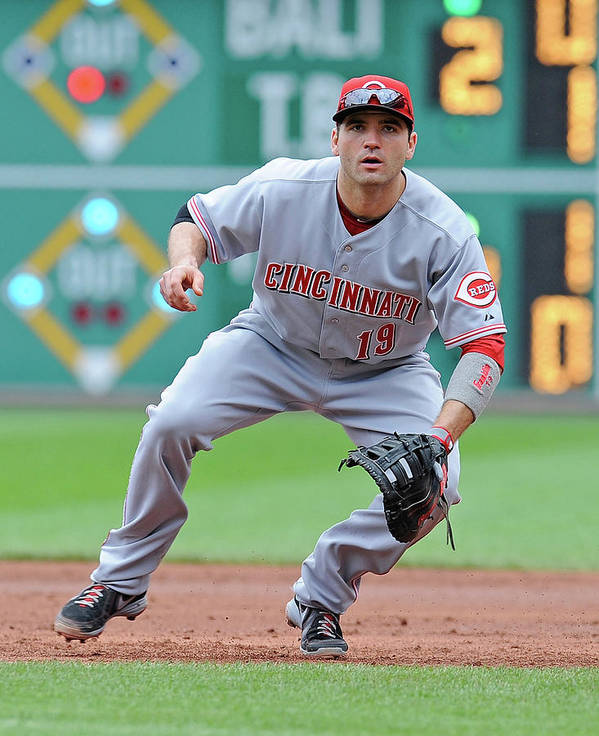 Pnc Park Art Print featuring the photograph Joey Votto by Joe Sargent