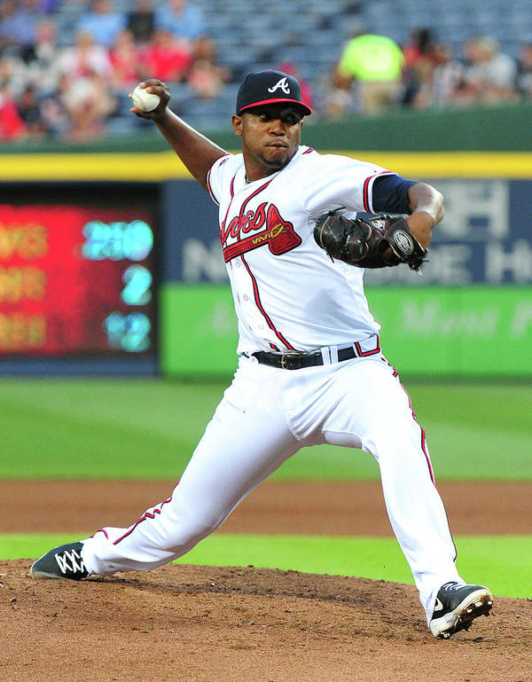 Atlanta Art Print featuring the photograph Julio Teheran by Scott Cunningham