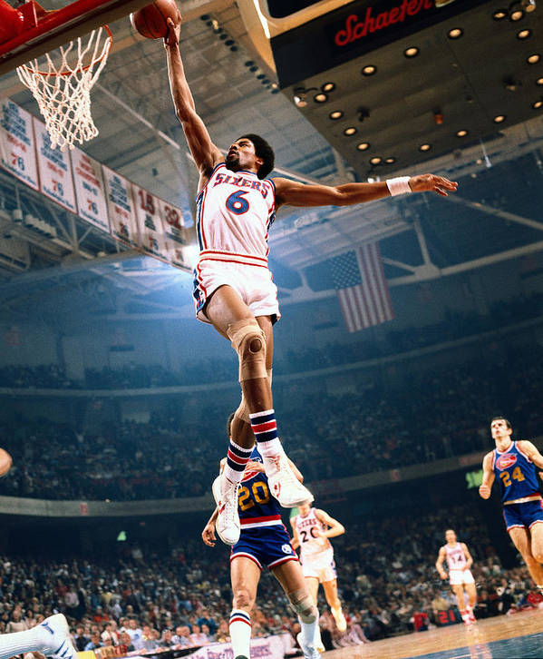 Nba Pro Basketball Art Print featuring the photograph Julius Erving by Neil Leifer