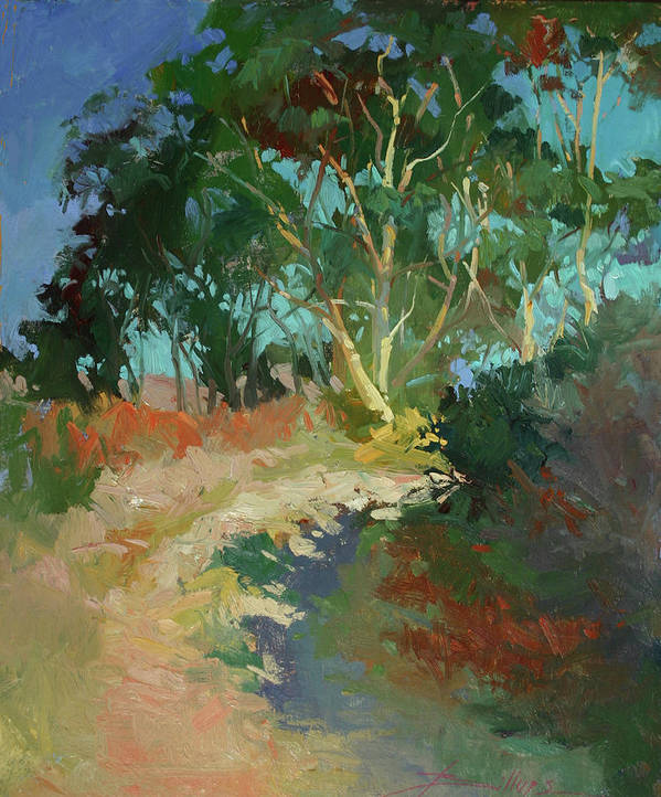 Plein Air Paintings Art Print featuring the painting Morning Has Broken by Betty Jean Billups