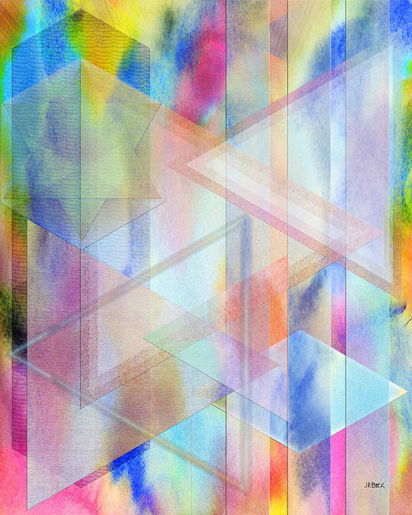 Pastoral Moment Art Print featuring the digital art Pastoral Moment by John Robert Beck