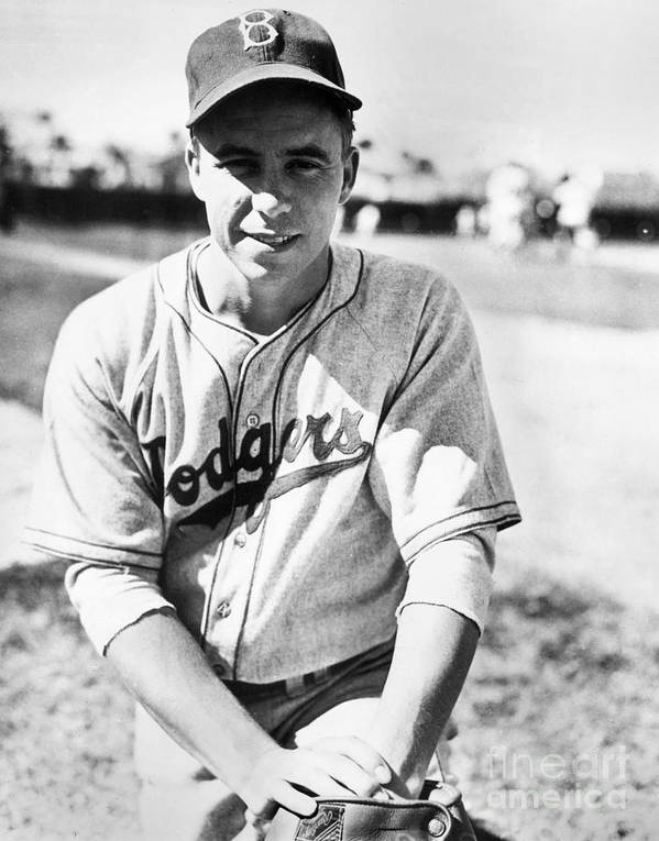 People Art Print featuring the photograph Pee Wee Reese by National Baseball Hall Of Fame Library