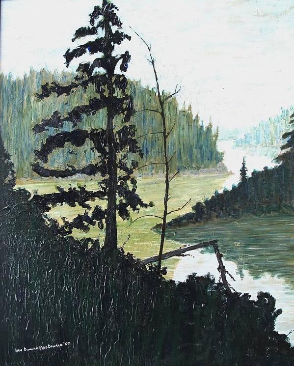 Sudbury Art Print featuring the painting South of Sudbury by Ian MacDonald