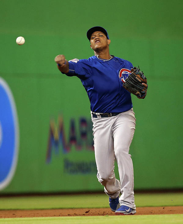 People Art Print featuring the photograph Starlin Castro by Mike Ehrmann