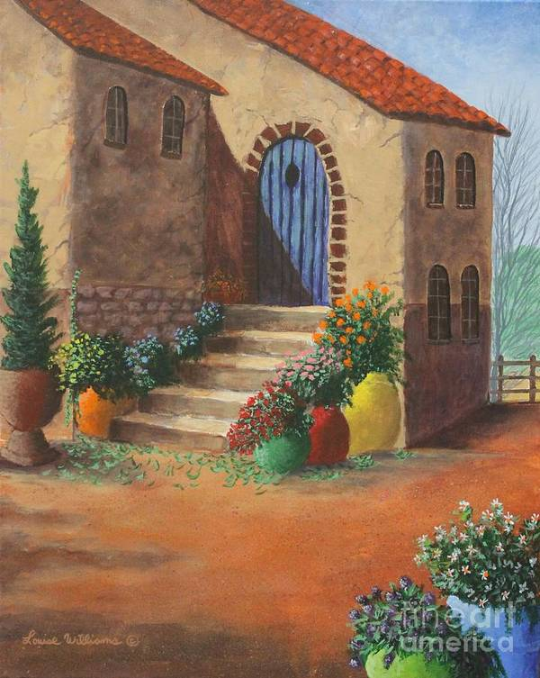 The Blue Door Art Print Louise Williams by Louise Williams