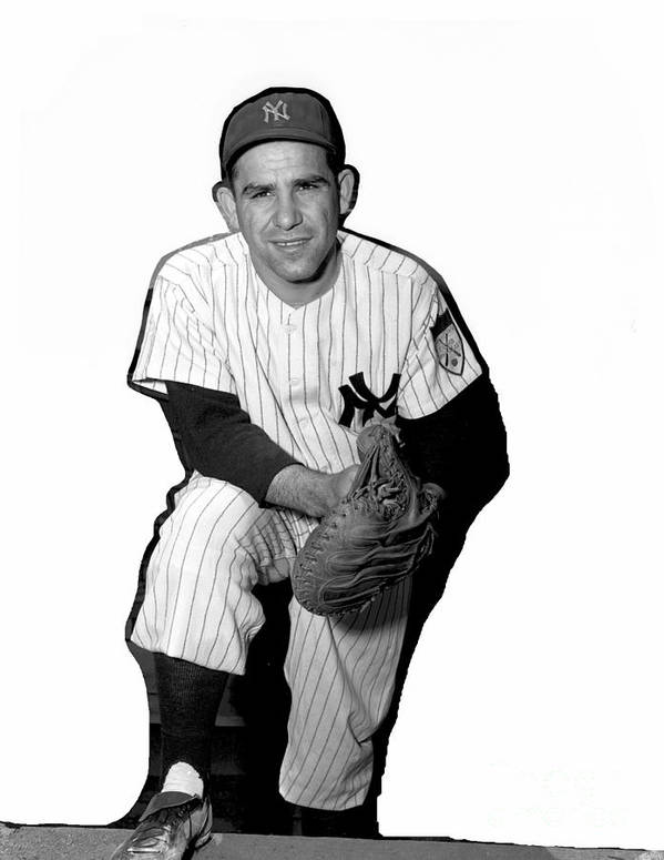 People Art Print featuring the photograph Yogi Berra by Kidwiler Collection