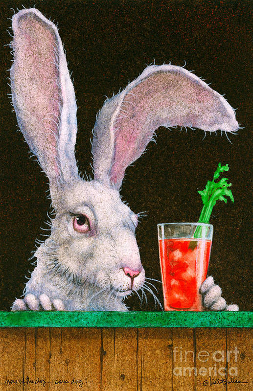 Will Bullas Art Print featuring the painting Hare Of The Dog...sans Dog... by Will Bullas