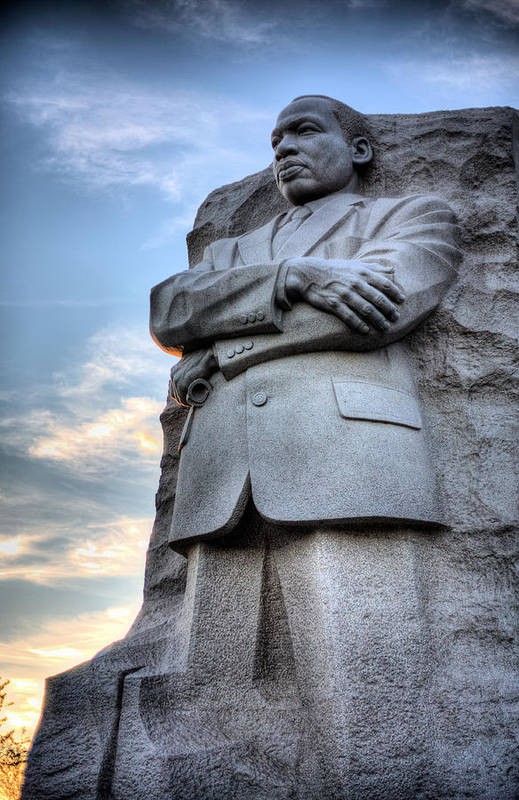 Martin Luther King Jr Memorial Art Print featuring the photograph I Have A Dream by JC Findley