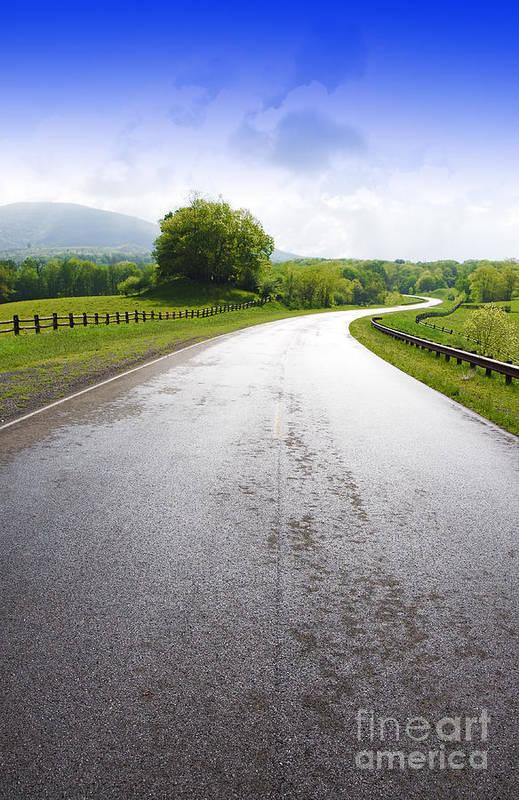 Highland Scenic Highway Art Print featuring the photograph Highland Scenic Highway Route 150 by Thomas R Fletcher