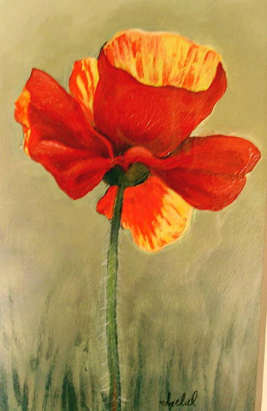 Flower Art Print featuring the painting Wildflower 2 by Ixchel Amor