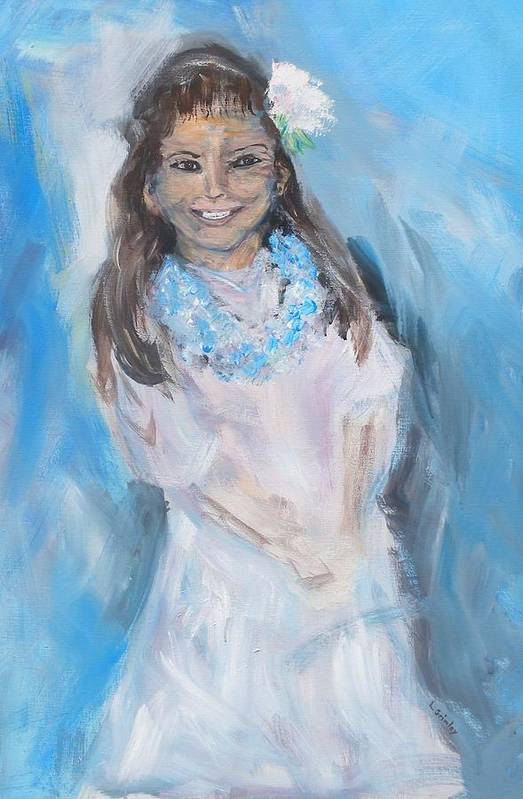 Young Girl Art Print featuring the painting Young Girl by Lessandra Grimley
