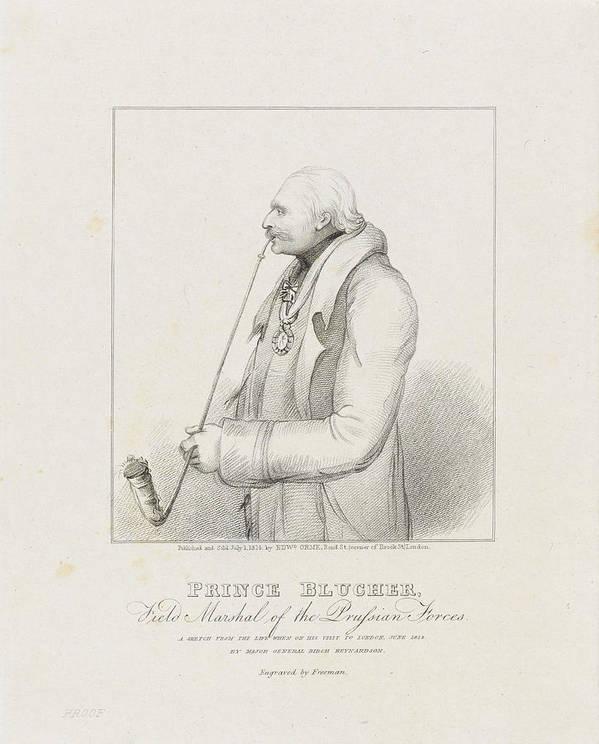 Prince Blucher Art Print featuring the drawing Prince Blucher by Samuel Freeman