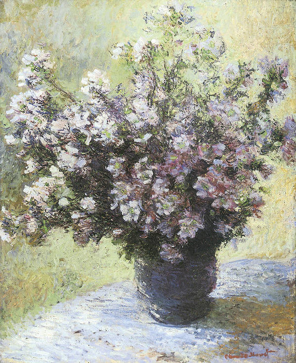 Vase Of Flowers Print featuring the painting Vase Of Flowers by Claude Monet